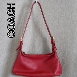 Rare Coach Vintage Red Leather